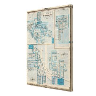 Plans of Mt Plessant, Toledo Canvas Print