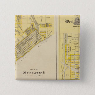 Plans of Muscatine, West Liberty 15 Cm Square Badge