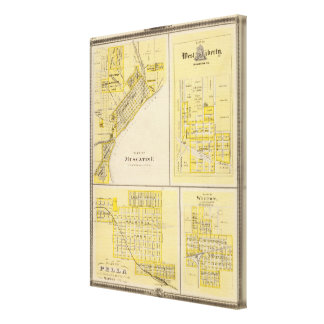 Plans of Muscatine, West Liberty Canvas Print