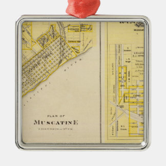 Plans of Muscatine, West Liberty Christmas Ornament