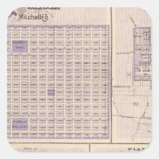 Plans of Osage, West Union Square Sticker