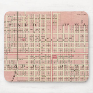 Plans of Oskaloosa, Eddyville and Albia City Mouse Mat