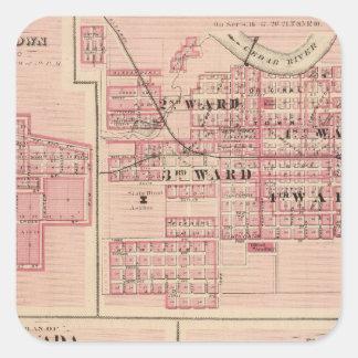 Plans of Vinton, Blairstown, Nevada Square Sticker