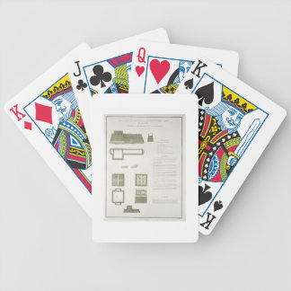 Plans, Sections and Elevations of the Great Wall o Bicycle Playing Cards