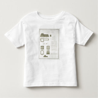 Plans, Sections and Elevations of the Great Wall o Toddler T-Shirt