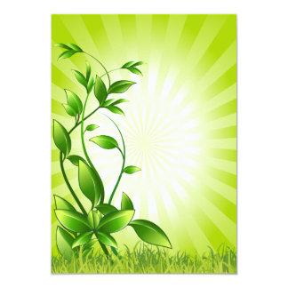 plant-158798 CAUSES ENVIROMENT CARING MOTIVATIONAL 13 Cm X 18 Cm Invitation Card