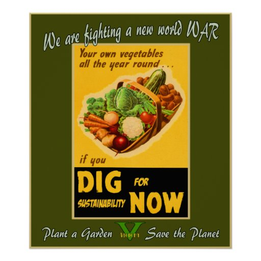 Plant a Garden - Save the Planet Poster
