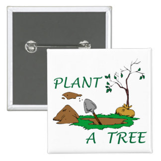 Plant a Tree 15 Cm Square Badge