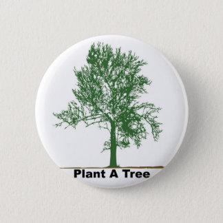 plant a tree 6 cm round badge