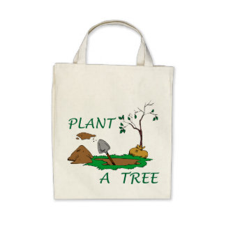 Plant a Tree Canvas Bag