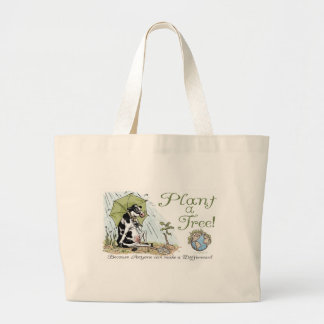 Plant a Tree Earth Day Cow Gear Jumbo Tote Bag