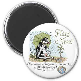 Plant a Tree Earth Day Cow Gear Magnets