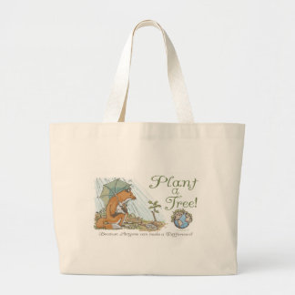 Plant a Tree Earth Day Fox Gear Tote Bag