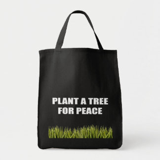 PLANT A TREE FOR PEACE TOTE BAGS