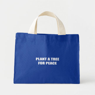 PLANT A TREE FOR PEACE CANVAS BAGS
