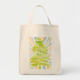 Plant A Tree (International Translation) Grocery Tote Bag