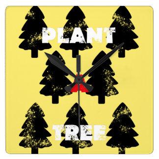 Plant A Tree Minimalistic Wall Clock