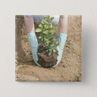 Plant a Tree on Earth Day 15 Cm Square Badge