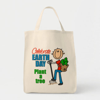 Plant A Tree Organic Grocery Tote Bag