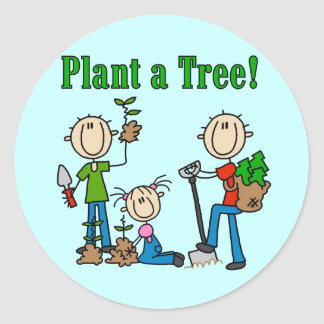 Plant a Tree T-shirts and Gifts Classic Round Sticker