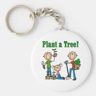 Plant a Tree T-shirts and Gifts Key Ring