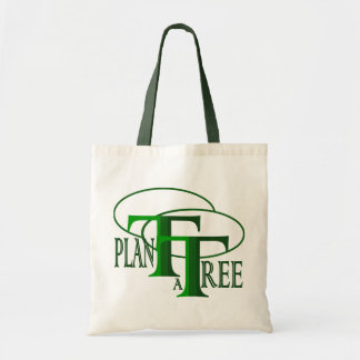 Plant a Tree Text Design Budget Tote Bag