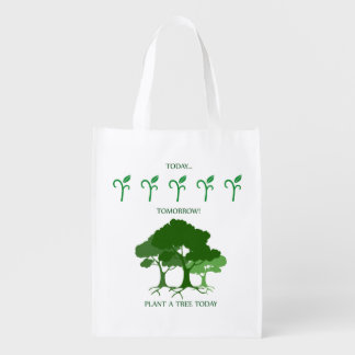 Plant a tree today reusable grocery bag