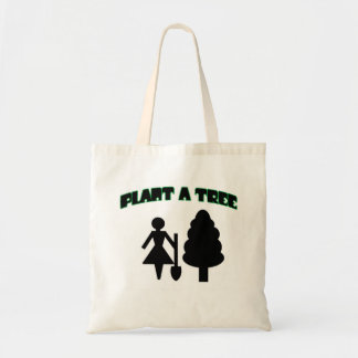 Plant A Tree Budget Tote Bag
