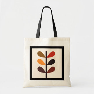 Plant Abstract Autumn Budget Tote Bag