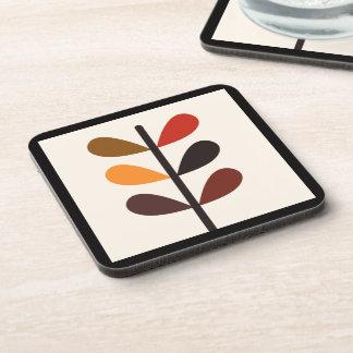 Plant Abstract Autumn Coaster