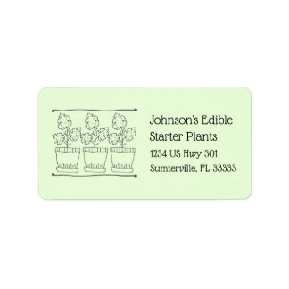 Plant and Tree Nursery Business Return Address Label