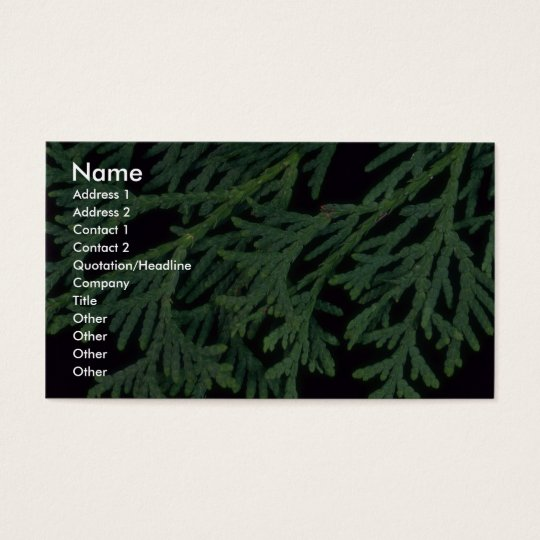 Plant Cedar Business Card