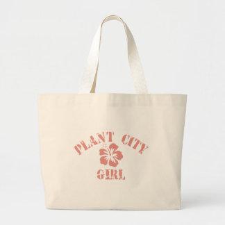 Plant City Pink Girl Jumbo Tote Bag