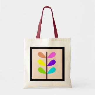 Plant colourful abstract budget tote bag