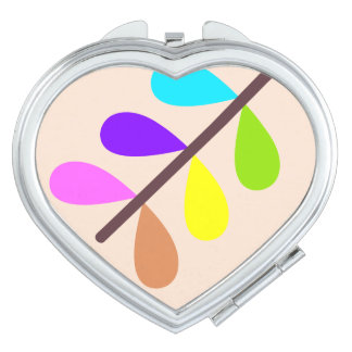 Plant Colourful Abstract Mirror For Makeup