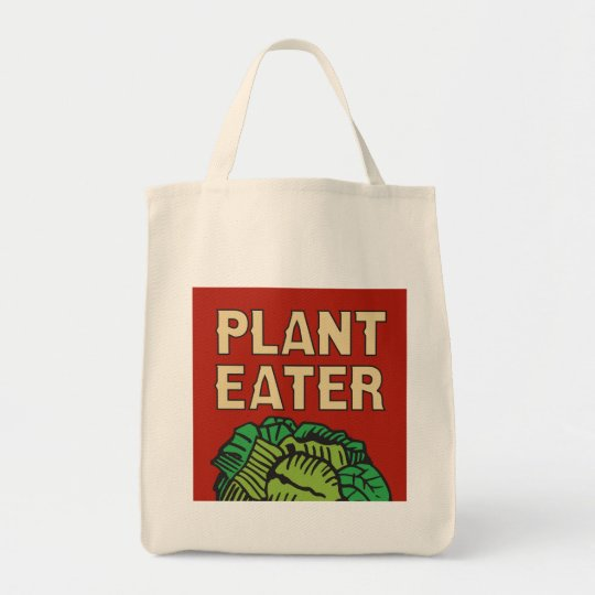 Plant Eater retro vegetarian vegan Tote Bag