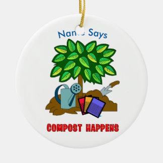 Plant & Garden COMPOST HAPPENS CIRCLE Christmas Ornament
