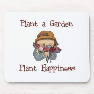 Plant Happiness Gardening Mouse Pad