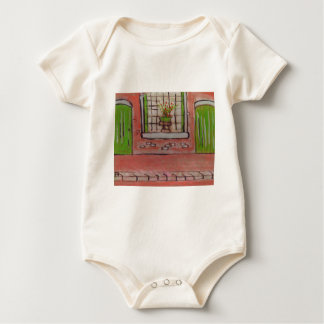Plant in a window baby bodysuit