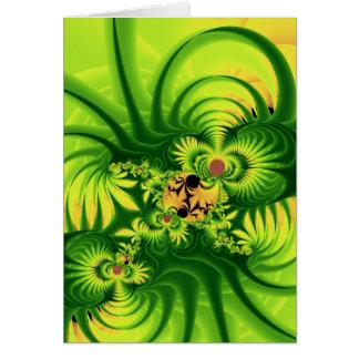 plant invasion greeting card