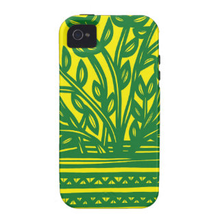 Plant Leaves Green Yellow Vibe iPhone 4 Cover