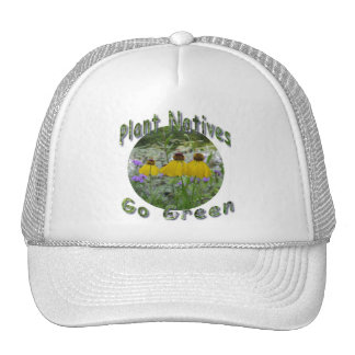 Plant Natives Go Green Hats