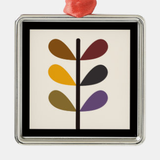 Plant Natures Art Silver-Colored Square Decoration
