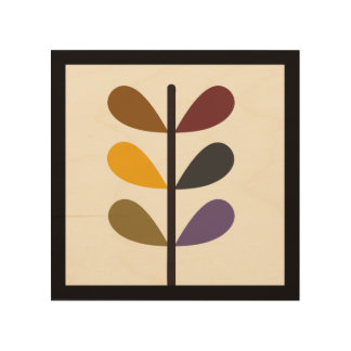 Plant Natures Art Wood Canvas