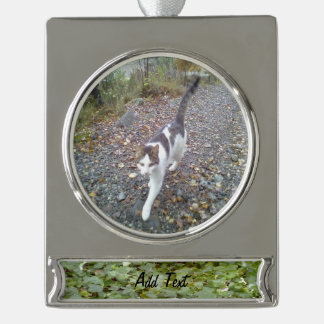 Plant Photo Silver Plated Banner Ornament