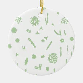 plant plankton round ceramic decoration