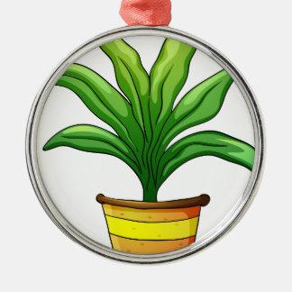 plant pot Silver-Colored round decoration