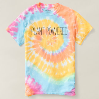 Plant Powered Tie Dye Shirt