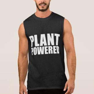 Plant Powered Vegan Simple Bold White on Black Tee