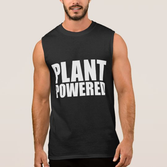 Plant Powered Vegan Simple Bold White on Black